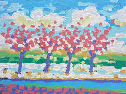 weekly painting week 76 fall color birch trees landscape oil