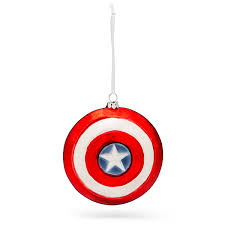 hallmark marvel captain america shield blown glass ornament