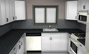 modern black and white kitchen backsplash tile home design and