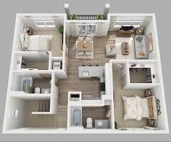 home design 3d ipad 2nd floor 20 designs ideas for 3d apartment or one storey three bedroom floor