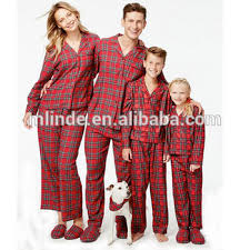 wholesale clothing all match family pajamas classic
