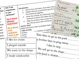conjunctions lesson year 1 planning and resources bundle by