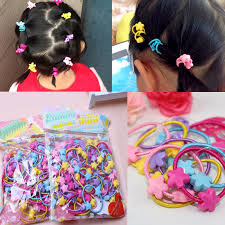 children s hair accessories 50pcs pack children elastic hair bands kids hair ties baby