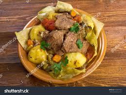 cuisine basma basma stew farmstyle tender stock photo 164037422
