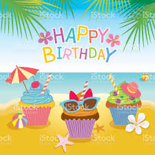 cupcakes summer theme for birthday card stock vector 538482518
