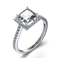 unique princess cut engagement rings engagement rings stylish halo princess cut