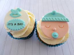 baby boy shower cupcakes baby boy shower fondant cupcake edible toppers baby shower