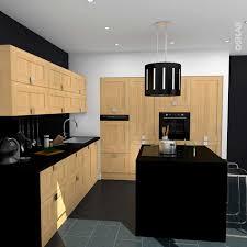 belles cuisines traditionnelles charmant cuisine bois et noir avec les plus belles cuisines bois