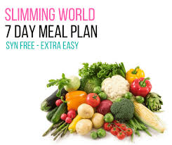 7 day slimming world meal plan syn free extra easy pinch of nom
