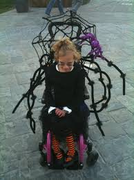 spider and web wheelchair costume wheelchair halloween costumes