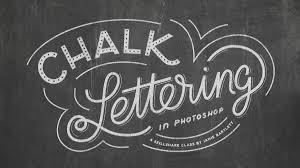 chalk lettering in photoshop jamie bartlett skillshare