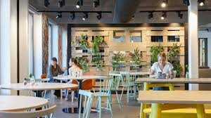 office canteen design amsterdam piet hein the new kid on the block working at booking com