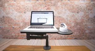 Laptop Desks With Storage by Laptop Mount Uplift Desk