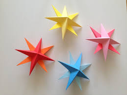how to make birthday decoration at home how to make simple 3d origami paper stars cards origami