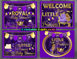 princess baby shower decorations royal princess baby shower theme purple royal princess ba shower