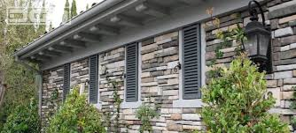 French Chateau Style Louver Style Shutters For A French Chateau Style Home In Newport