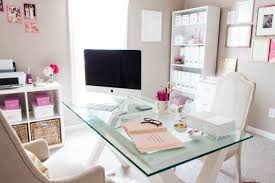 design home office online bonnie bakhtiari s pink and chic home office office tour