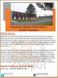 south campus guide for housing lottery 2017 by the office of