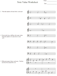 music theory worksheet on treble bass clef notes