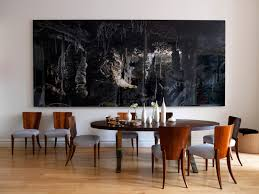 Oversized Dining Room Tables 10 Dining Rooms With Oversized Art