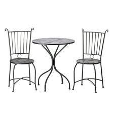 Garden Bistro Table Home Locomotion Black Metal Outdoor Garden Patio Table And 2