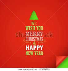 we wish you merry happy stock vector 225177112