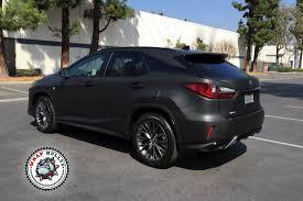 lexus torrance ca lexus rx matte black auto wrap wrap bullys