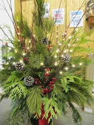 Make Christmas Greenery Decorations by Christmas Outdoor Container Jensenrsery Com Christmas Decorating