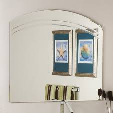Frameless Bathroom Mirrors by Shop Decor Wonderland Angel 39 5 In X 31 5 In Arch Frameless