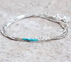 bead necklace sterling silver images Turquoise bracelet turquoise necklace skinny wrap bracelet jpg