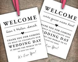 welcome bags for weddings custom printable wedding welcome bag tags by rachelsprintables