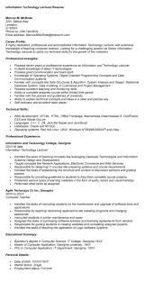 lecturer resume sample parse resume example college lecturer
