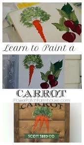paint a carrot flower patch farmhouse