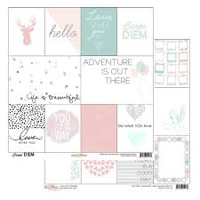glitz design carpe diem collection 12 x 12 sided paper