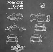 porsche poster vintage vintage porsche patent mixed media by dan sproul