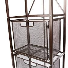 Bakers Rack With 2 Drawers Origami Steel Folding 2 Drawer Pantry Rack With Wheels 8271940 Hsn