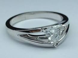 split band engagement rings 1 01 ctw trillion cut solitaire split band engagement ring