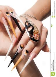 extremely long nails stock photo image 36706140