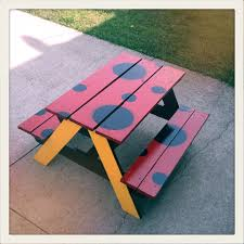 Ana White Preschool Picnic Table Diy Projects by Ana White Lady Bug Table Diy Projects