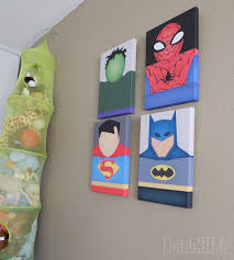 tableau chambre bébé à faire soi même chambre enfant garçon tableaux marvel vintage