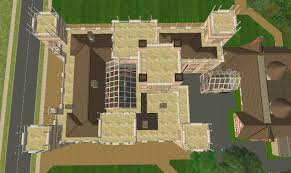 castle plans mod the sims downton abbey highclere castle no cc