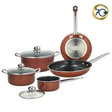 vintage de luxe tognana collection grancucina battery 8 pieces cookware copper