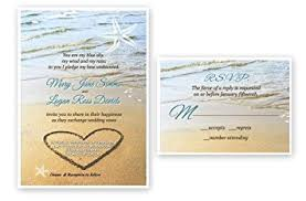 wedding invitations and response cards sand starfish wedding invitations response