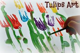 spring painting ideas spring art tulip painting fun littles