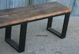 buy a handmade vintage industrial bench seat reclaimed wood