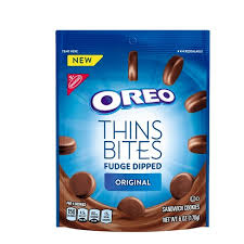 where to buy white fudge oreos oreo thin bites fudge dipped original sandwich cookies 6oz target