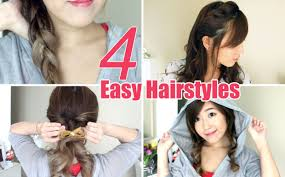4 easy u0026 cute hairstyles youtube