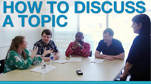 how to discuss a topic in a