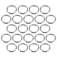 small metal rings images 100 pack small key ring 15 mm round metal split rings for home jpg