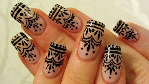 easy henna tattoo inspired design nail art tutorial youtube